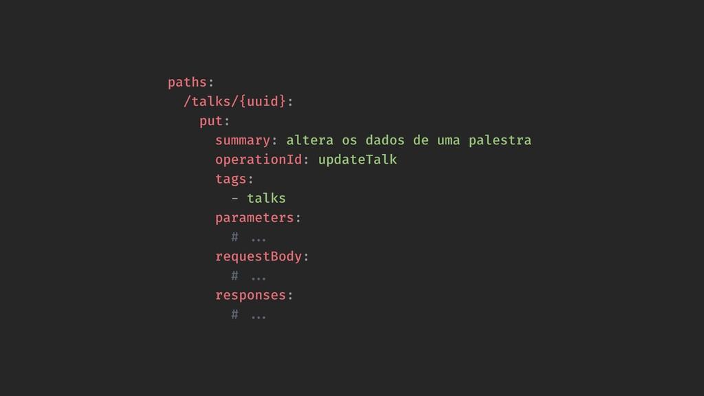paths: /talks/{uuid}: put: summary: altera os d...