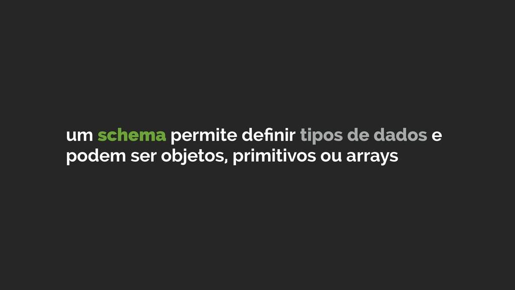 um schema permite definir tipos de dados e podem...