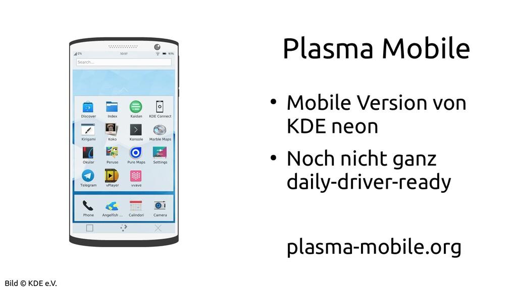 Plasma Mobile ● Mobile Version von KDE neon ● N...