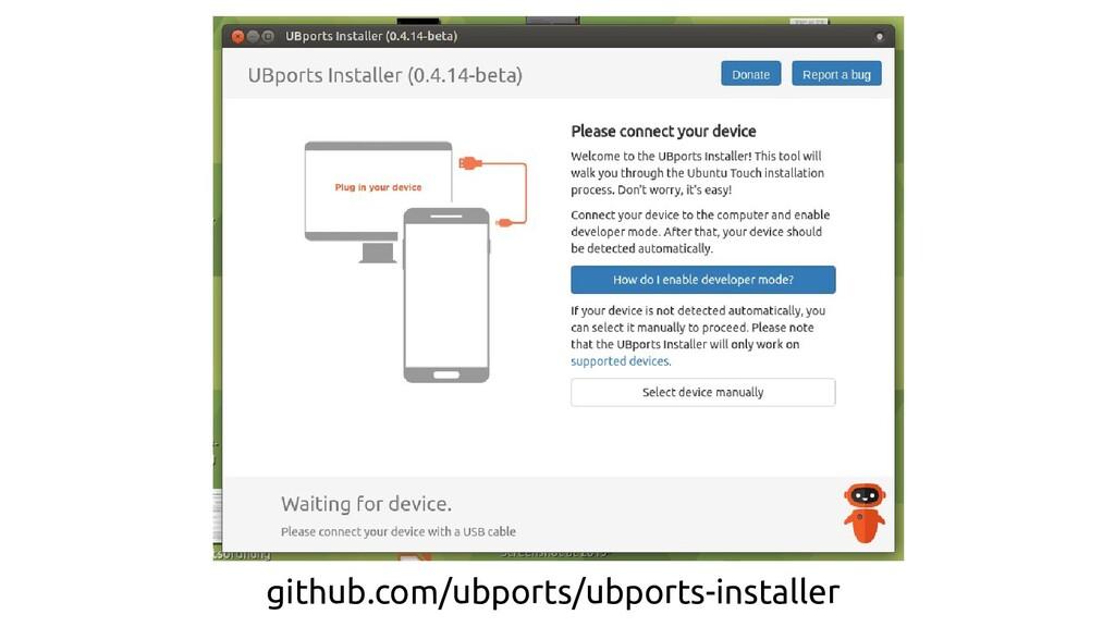 github.com/ubports/ubports-installer