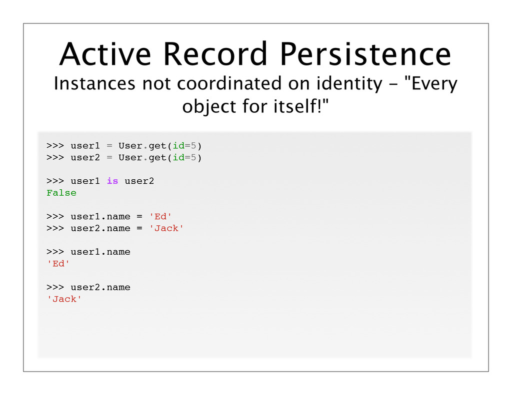 """Instances not coordinated on identity - """"Every ..."""