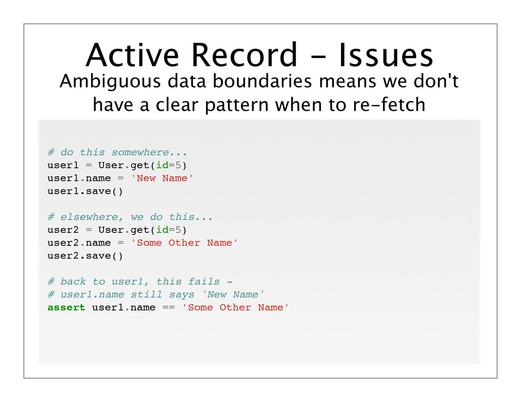 Ambiguous data boundaries means we don't have a...