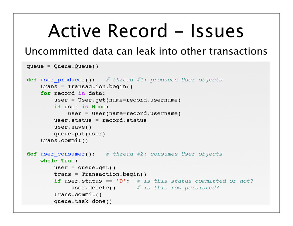 Uncommitted data can leak into other transactio...
