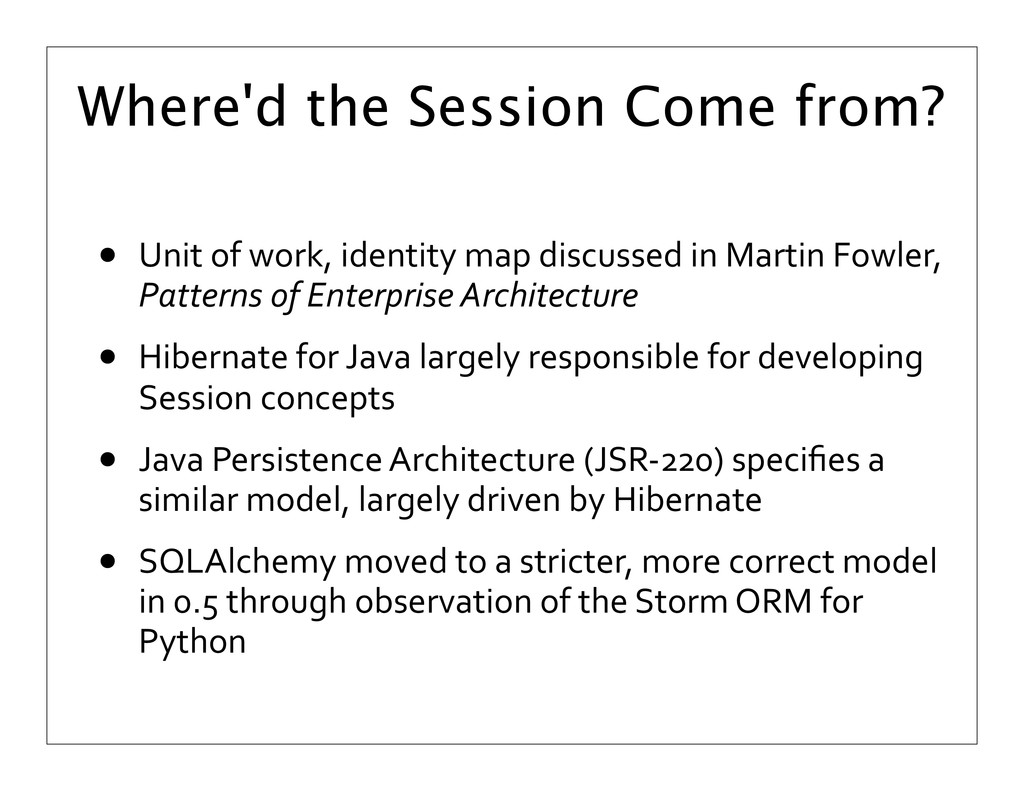 Where'd the Session Come from? • Unit of ...