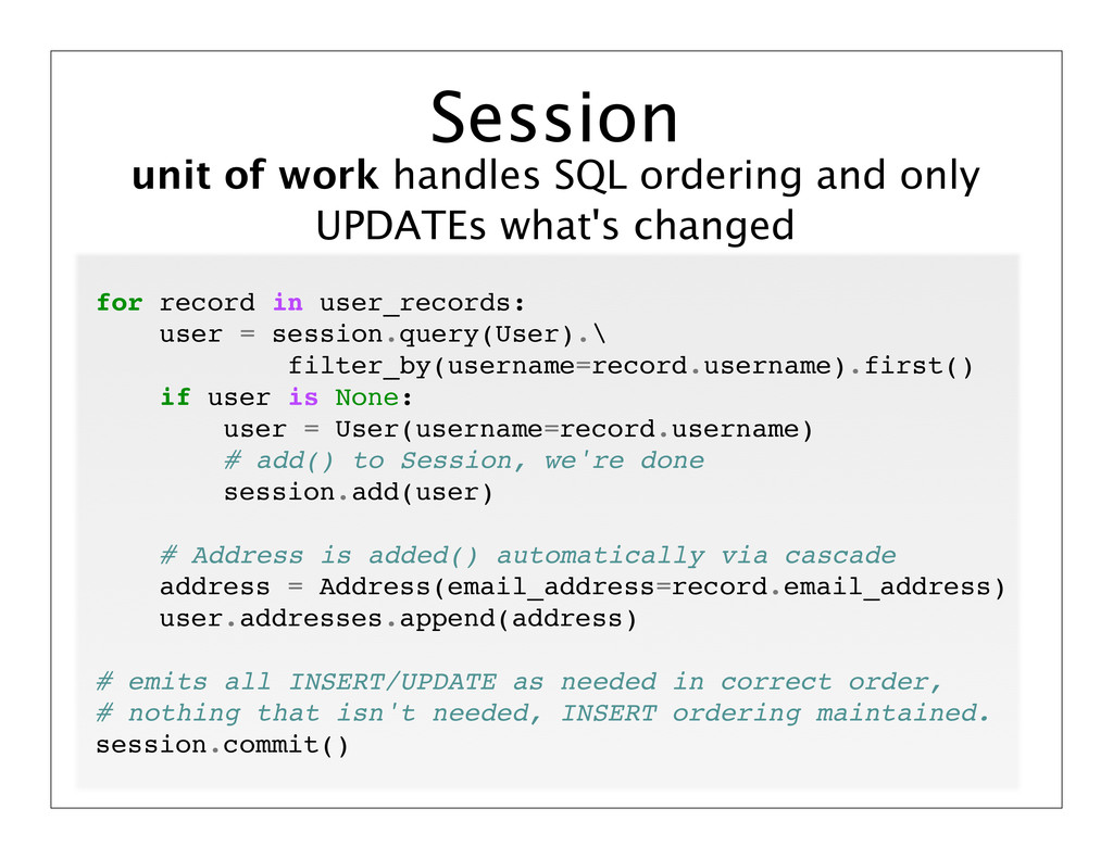unit of work handles SQL ordering and only UPDA...