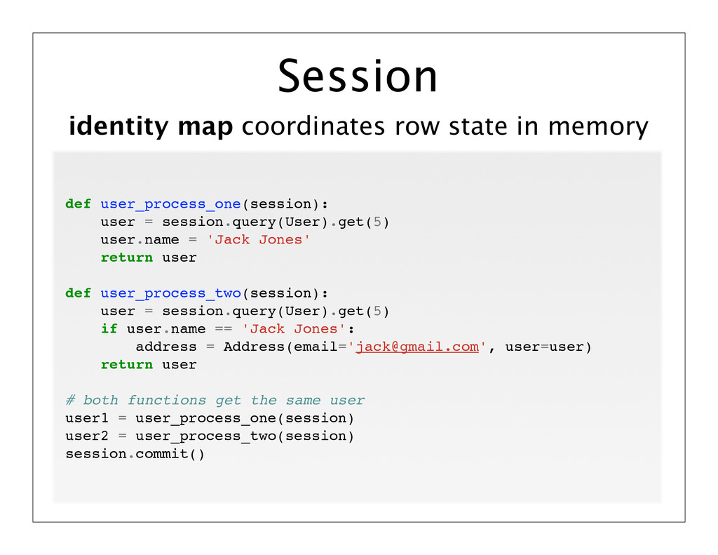 identity map coordinates row state in memory Se...