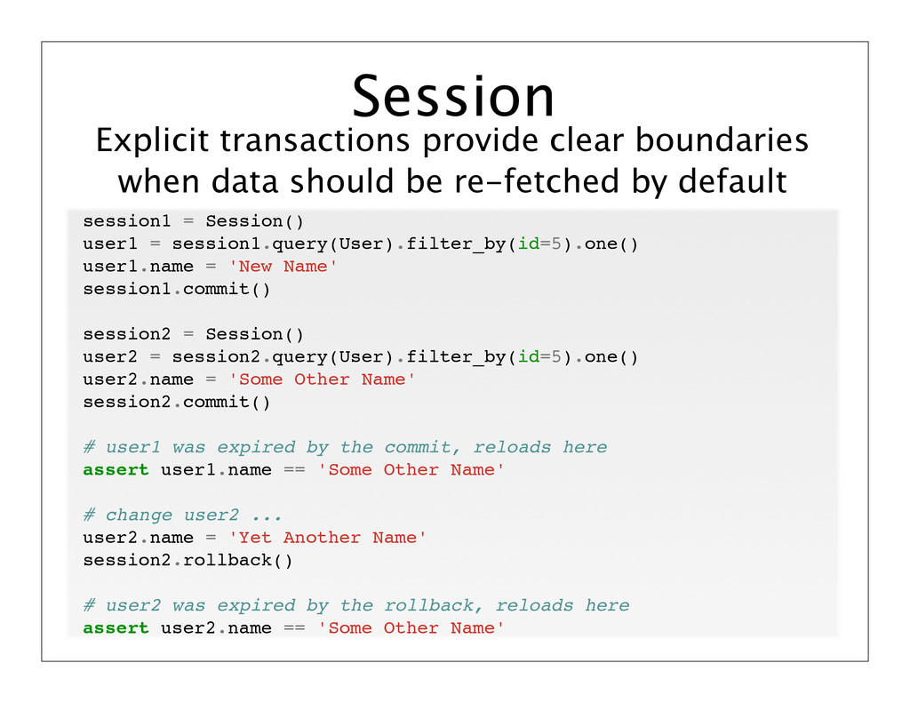 Explicit transactions provide clear boundaries ...