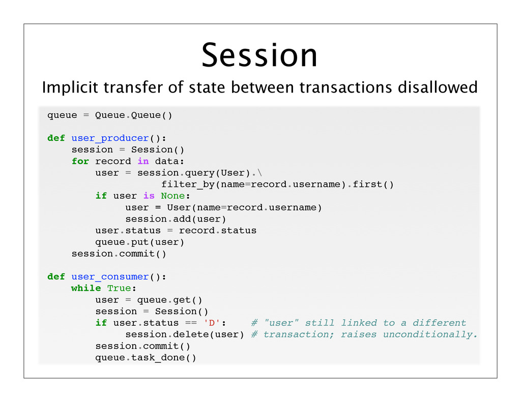 Implicit transfer of state between transactions...