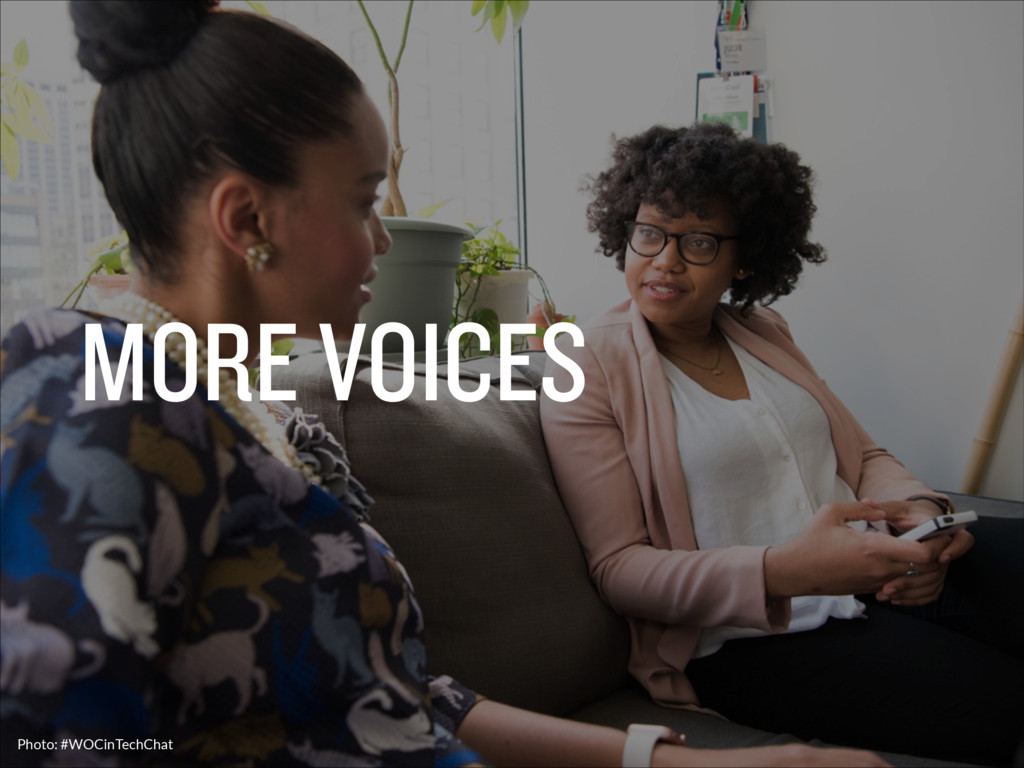 MORE VOICES Photo: #WOCinTechChat