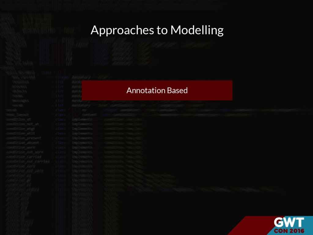 Approaches to Modelling Annotation Based
