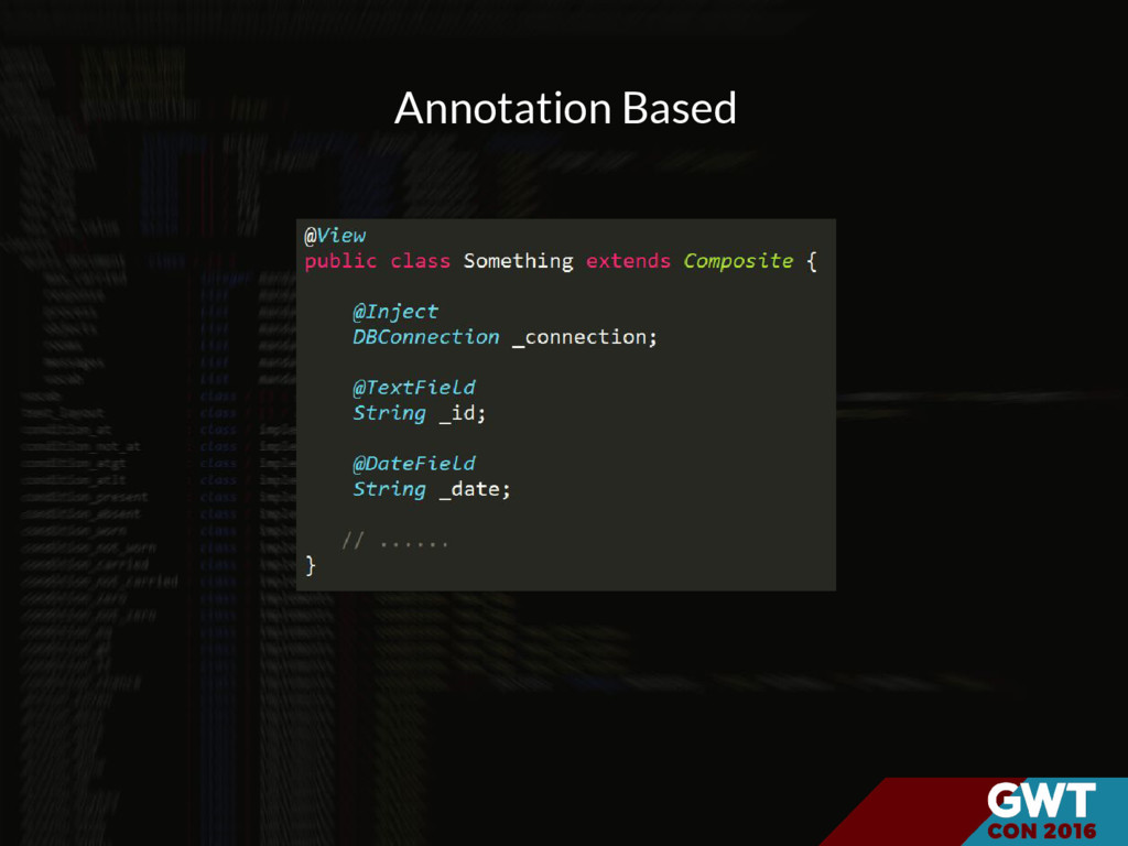 Annotation Based