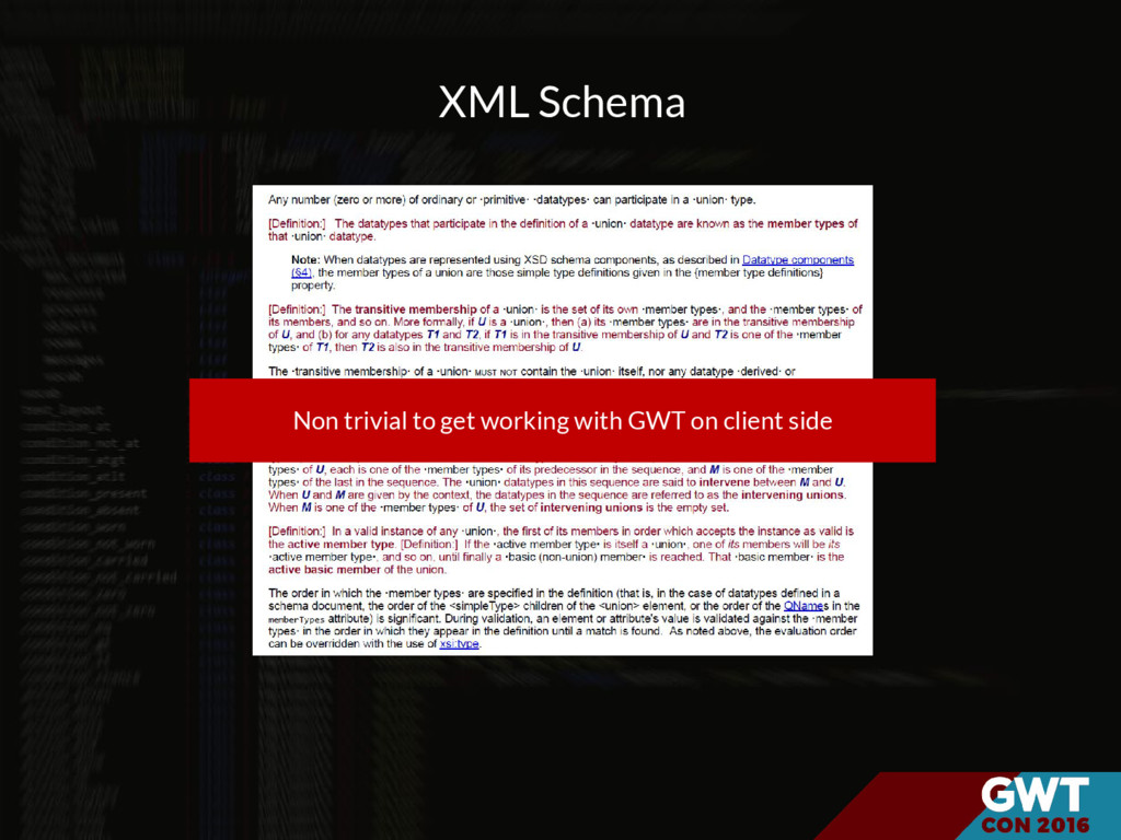 XML Schema Non trivial to get working with GWT ...