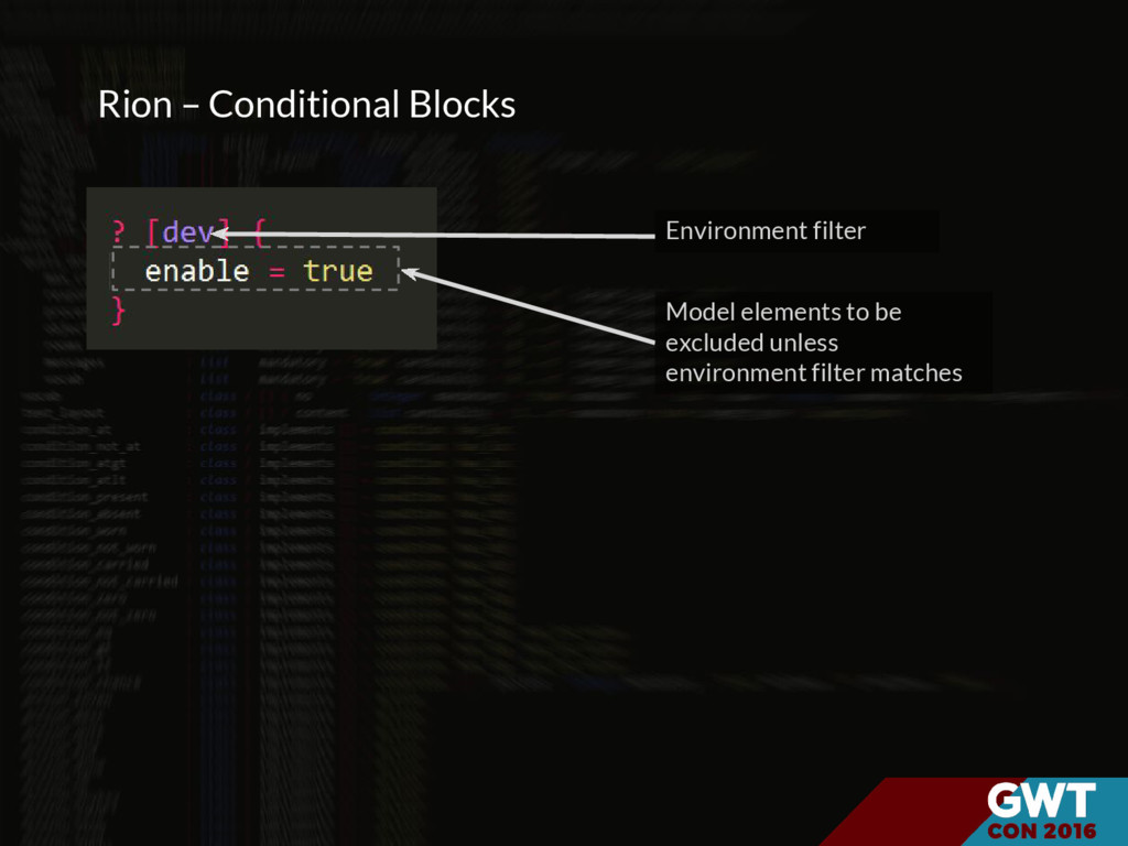 Rion – Conditional Blocks Environment filter Mo...