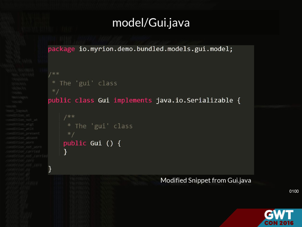 model/Gui.java 0100 Modified Snippet from Gui.j...