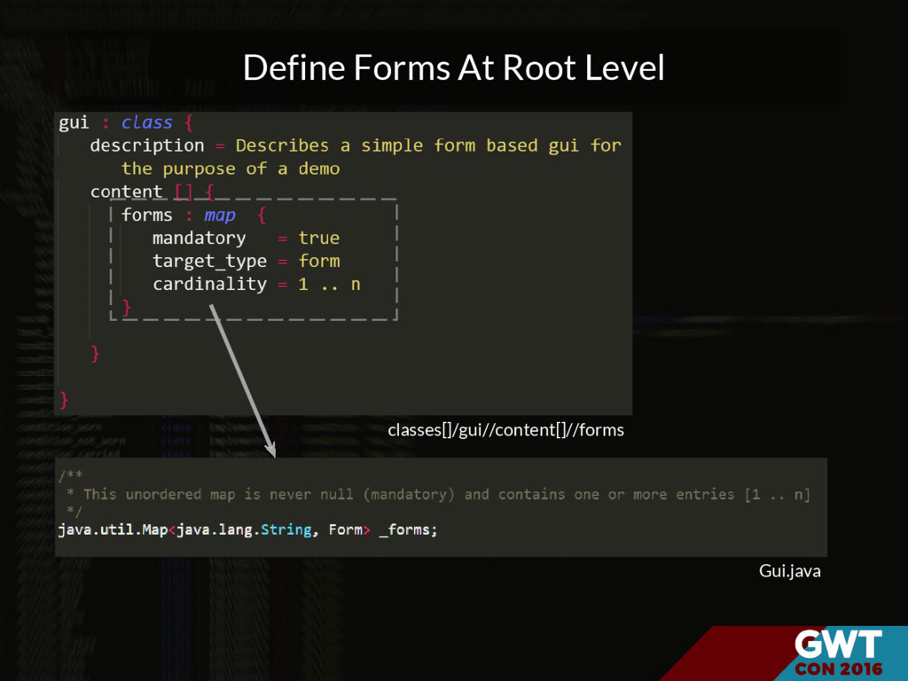classes[]/gui//content[]//forms Gui.java Define...