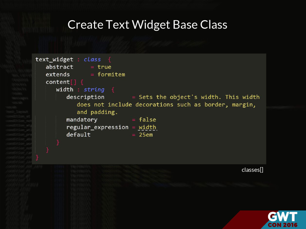classes[] Create Text Widget Base Class