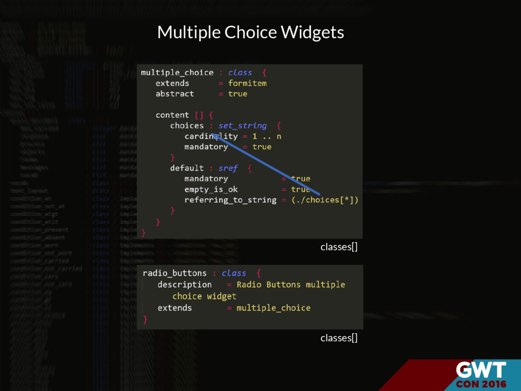 classes[] classes[] Multiple Choice Widgets