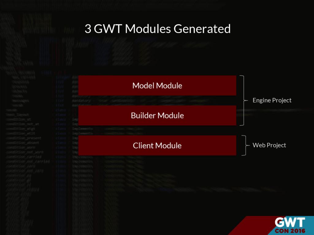 Model Module Builder Module Client Module 3 GWT...