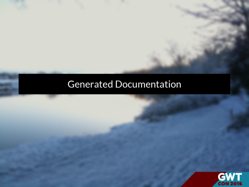 Generated Documentation