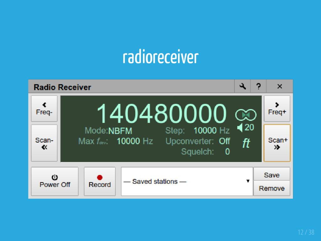 radioreceiver 12 / 38