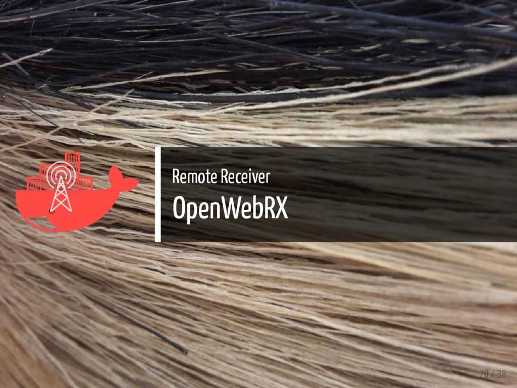   Remote Receiver OpenWebRX 20 / 38