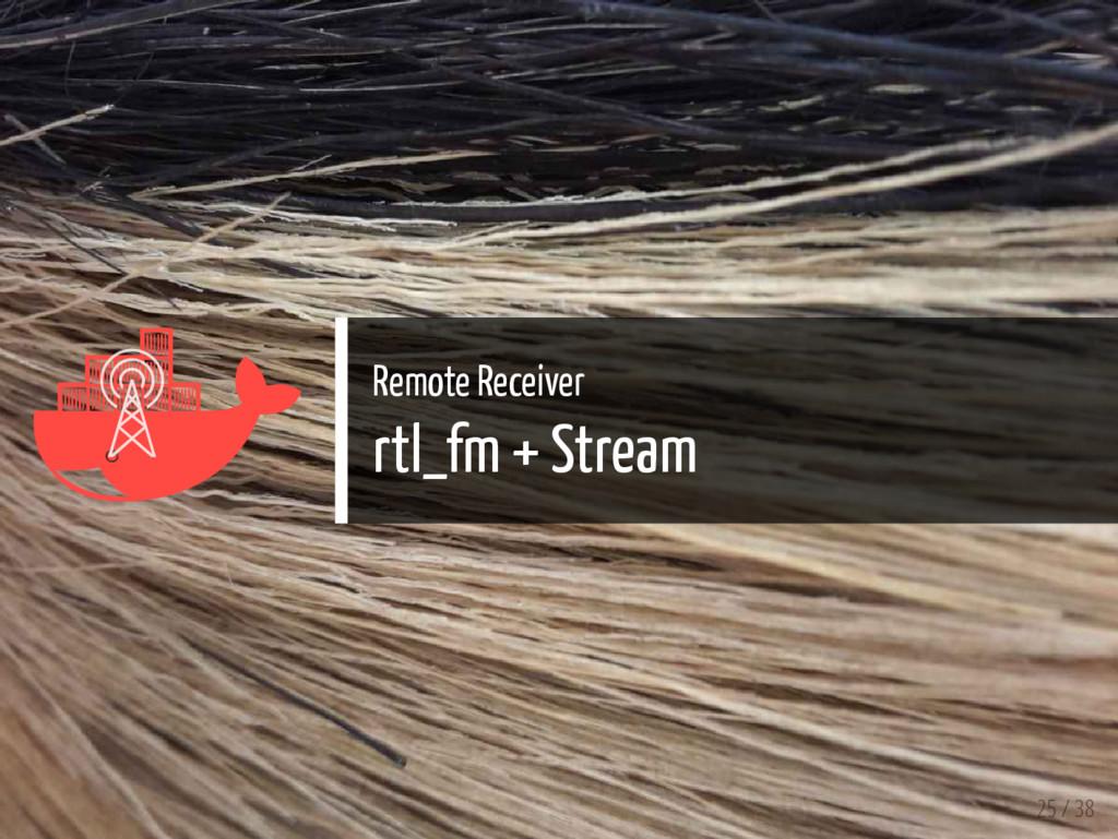   Remote Receiver rtl_fm + Stream 25 / 38