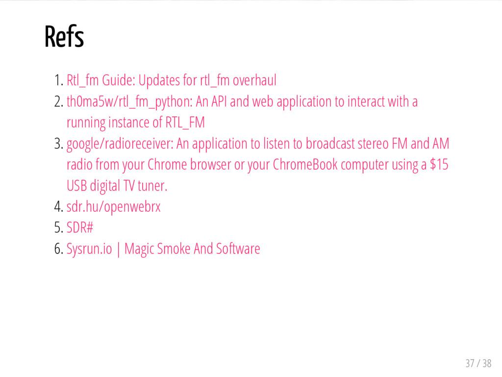 Refs 1. Rtl_fm Guide: Updates for rtl_fm overha...