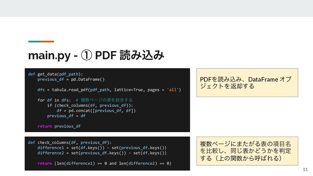 main.py - ᶃ PDF ಡΈࠐΈ def check_columns(df, prev...