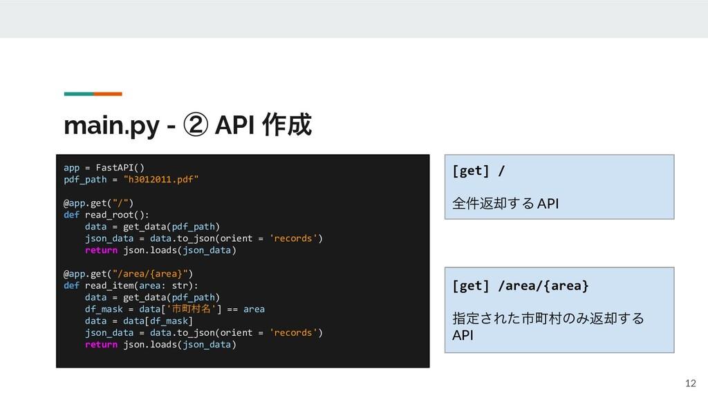 main.py - ᶄ API ࡞ 12 app = FastAPI() pdf_path ...