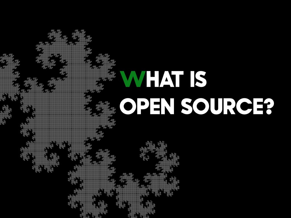 What is Open Source?