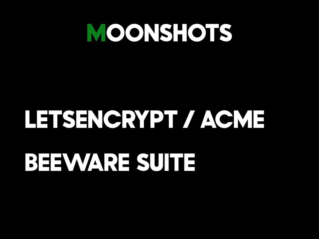 Moonshots LetsEncrypt / Acme BeeWare Suite