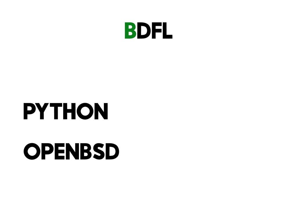BDFL Python openBSD