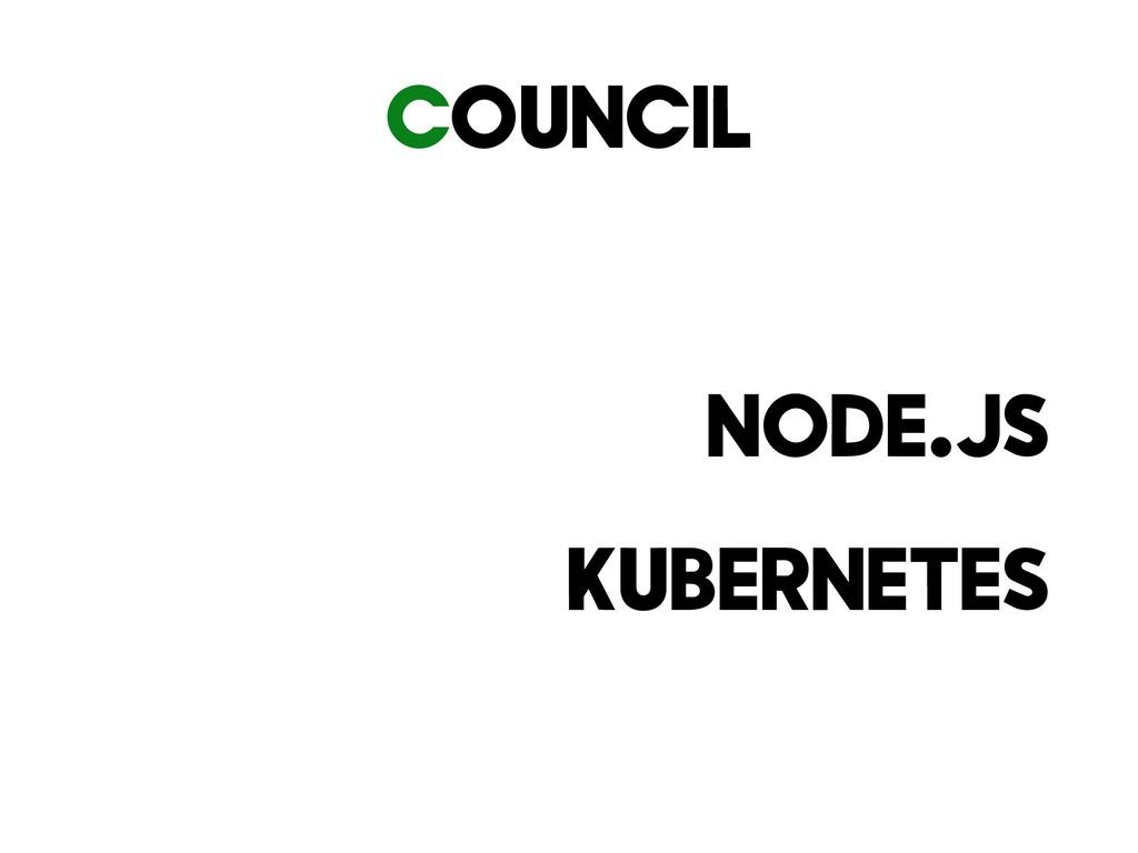 Council Node.JS Kubernetes