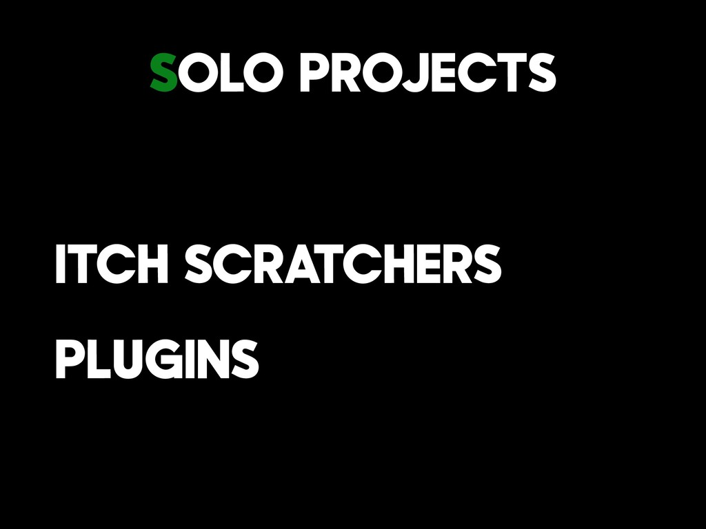 Solo Projects Itch Scratchers Plugins