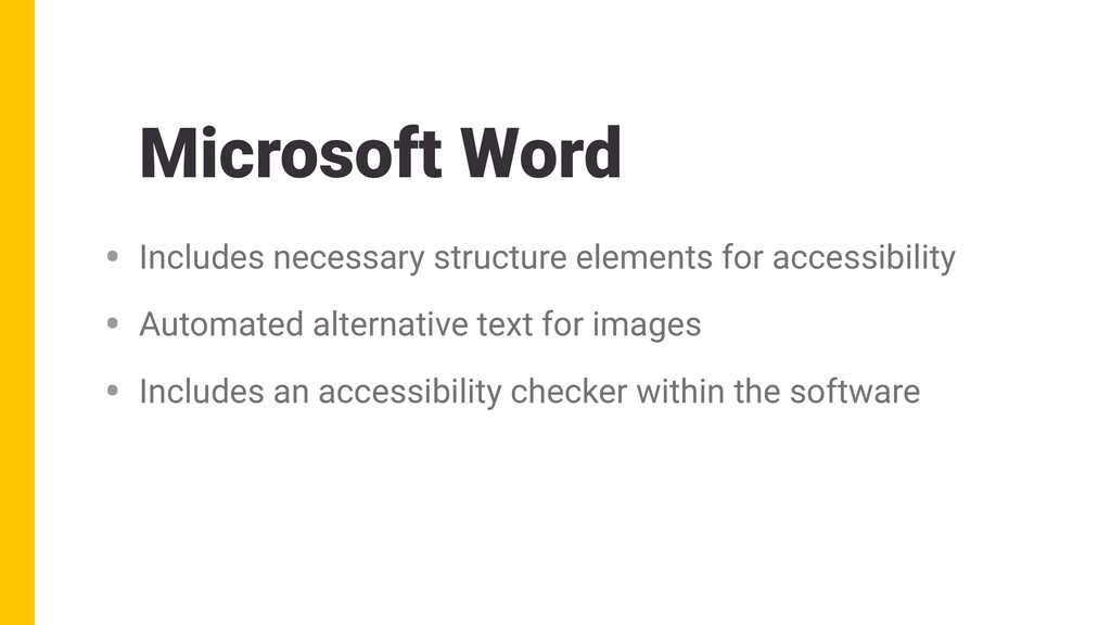 Microsoft Word • Includes necessary structure e...