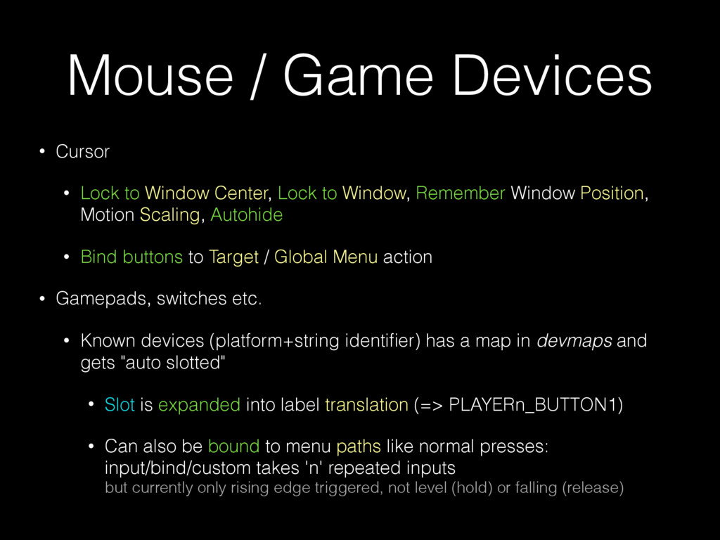 Mouse / Game Devices • Cursor • Lock to Window ...