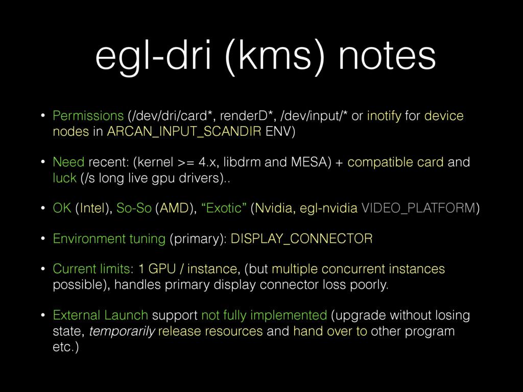 egl-dri (kms) notes • Permissions (/dev/dri/car...