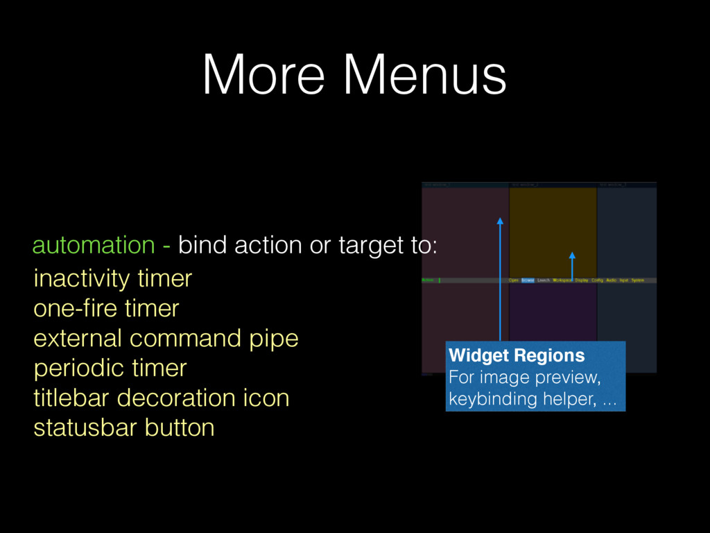 More Menus automation - bind action or target t...