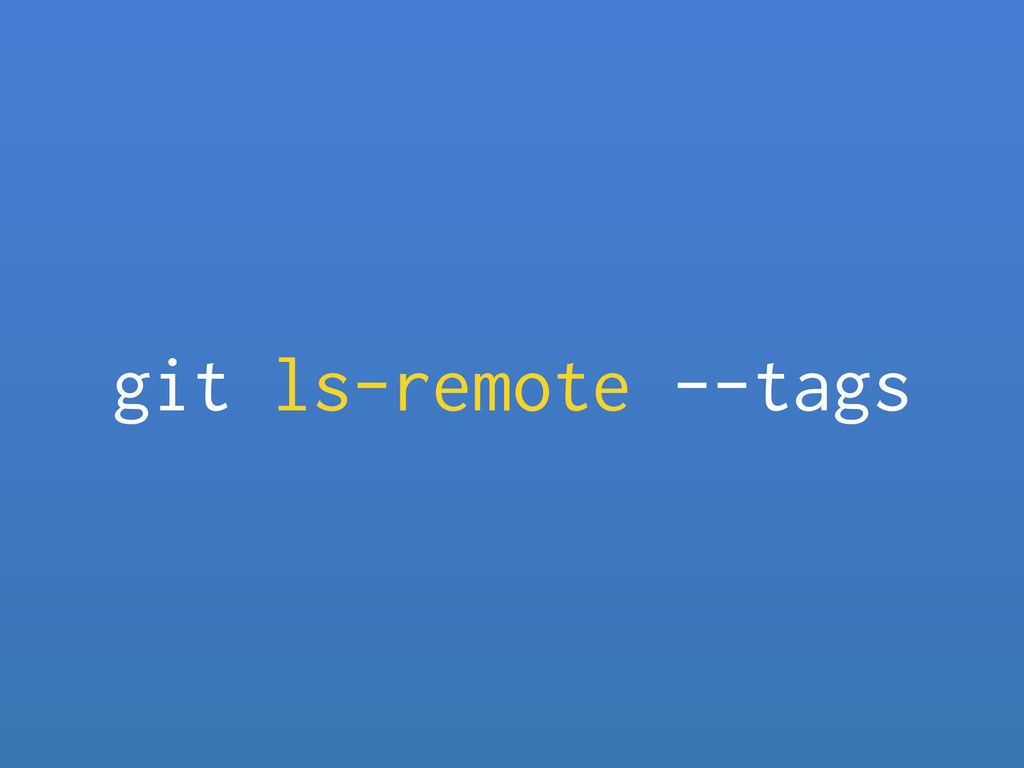 git ls-remote --tags