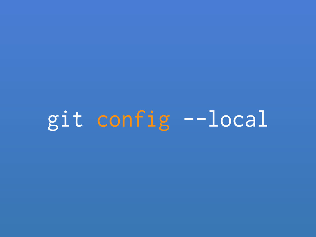 git config --local