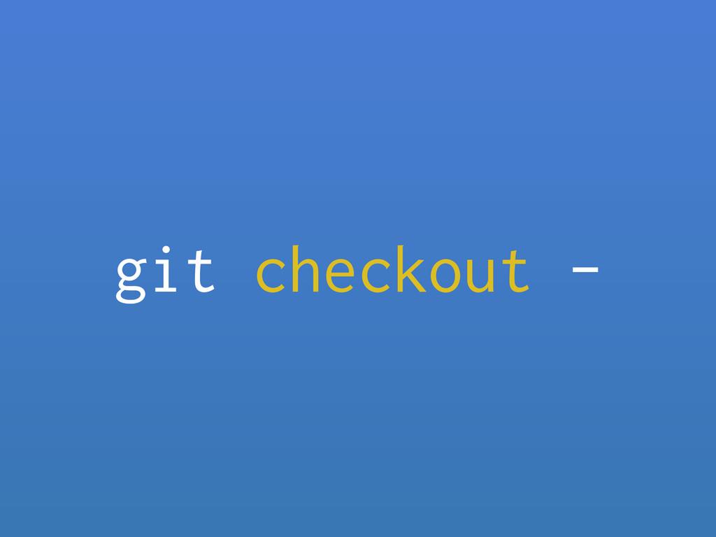git checkout -