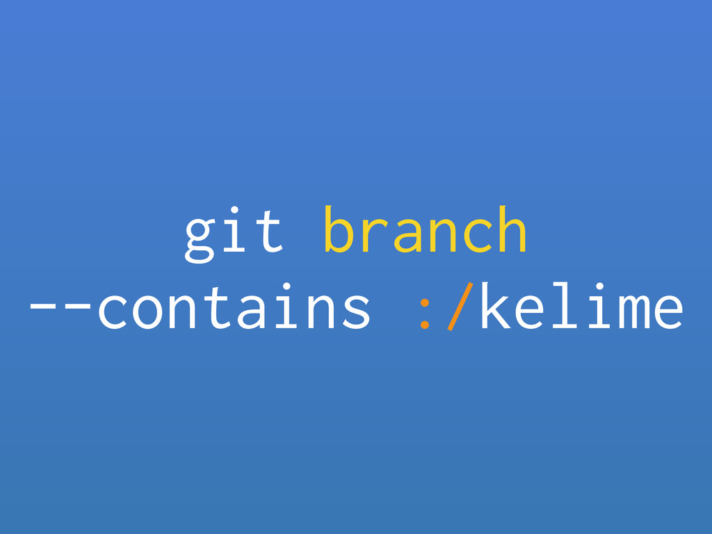 git branch