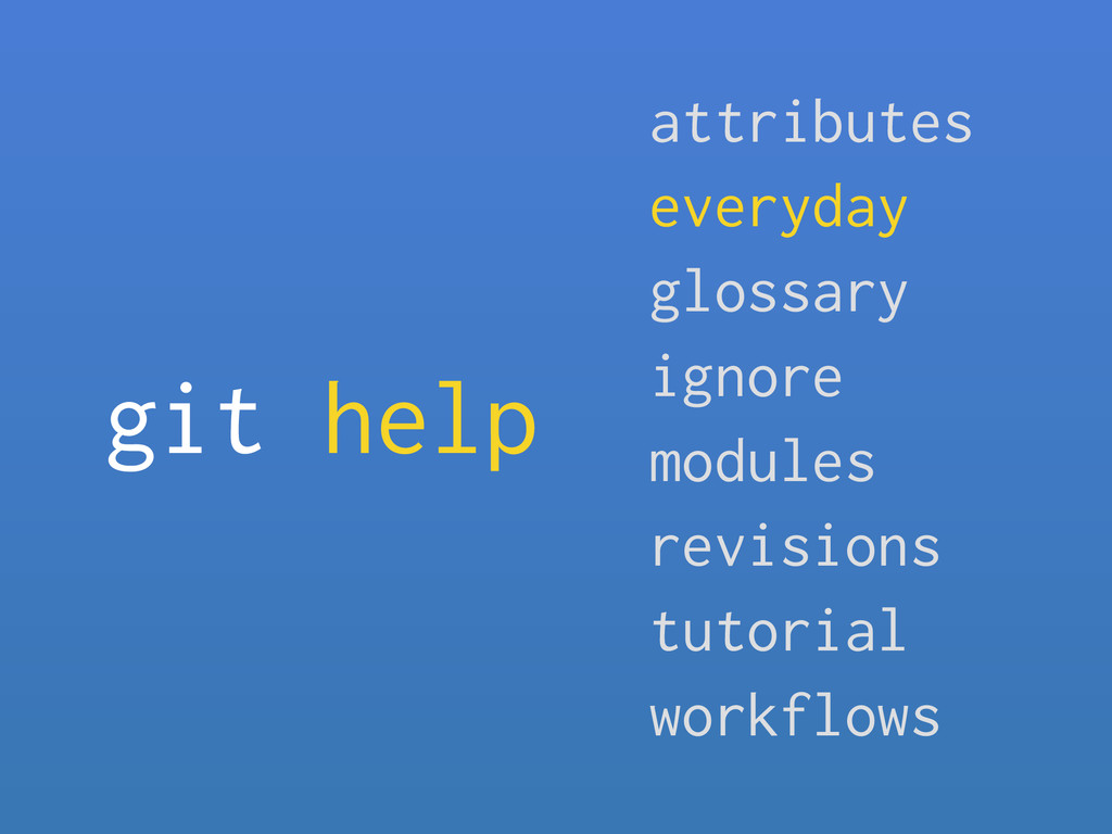 git help attributes everyday glossary ignore mo...
