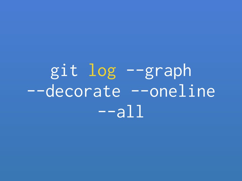 git log --graph
