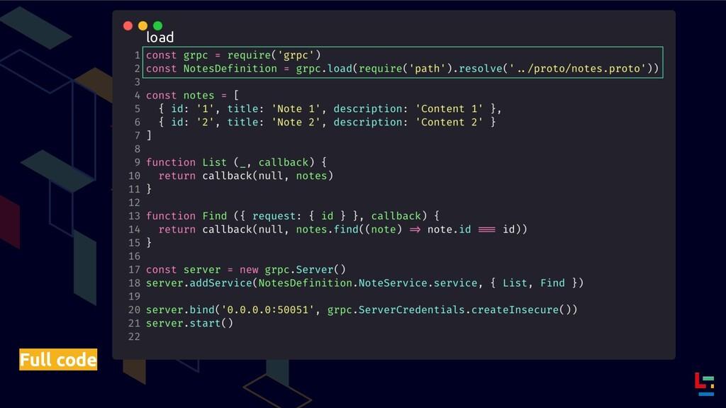 Full code load