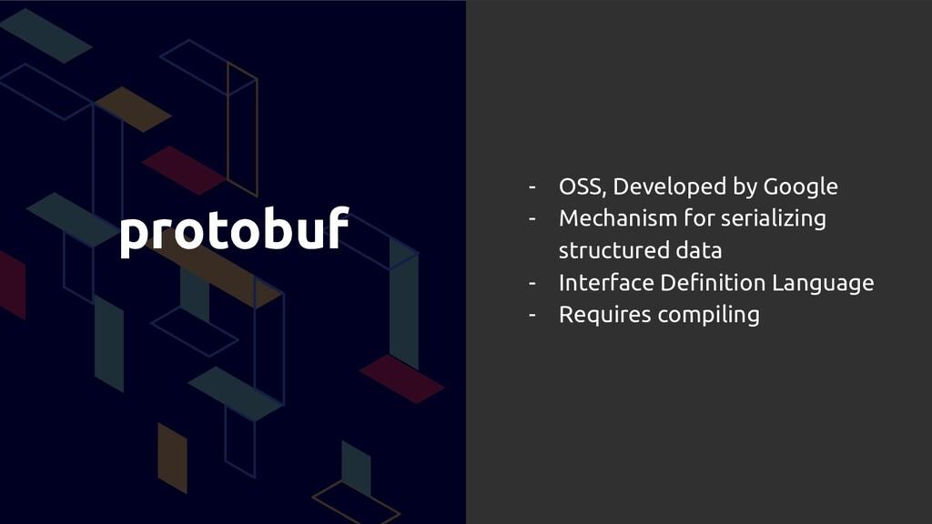 protobuf - OSS, Developed by Google - Mechanism...