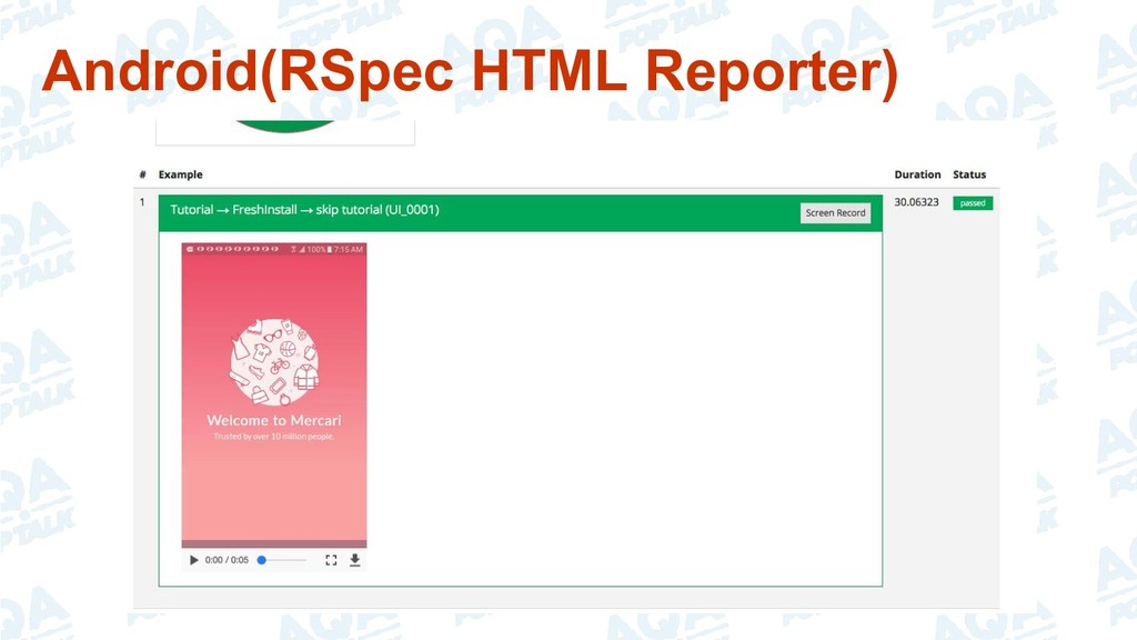 Android(RSpec HTML Reporter)