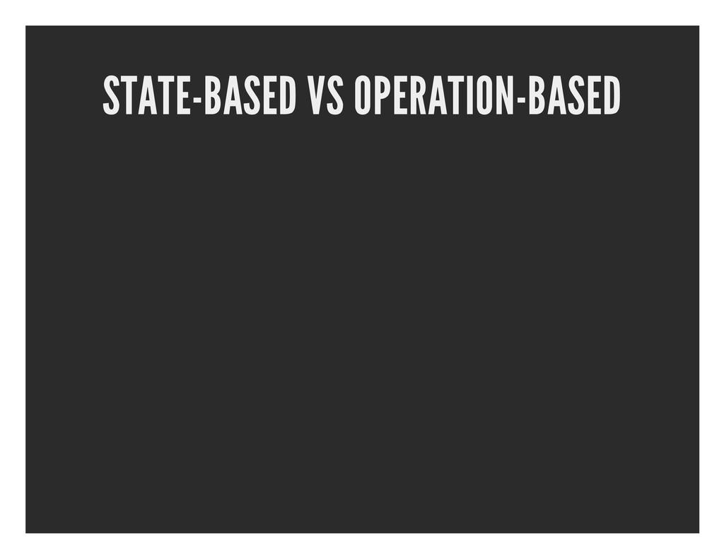 STATE-BASED VS OPERATION-BASED