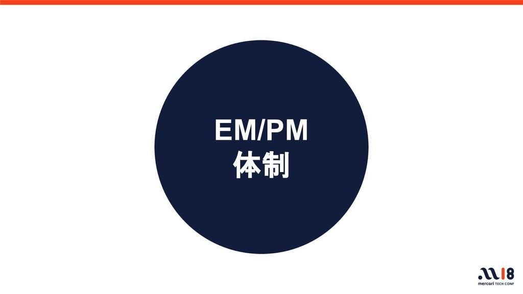 EM/PM 体制