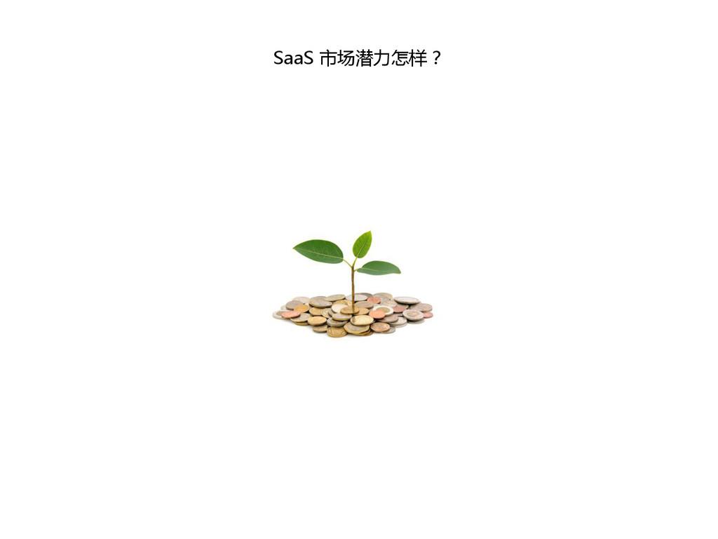 SaaS 市场潜力怎样?
